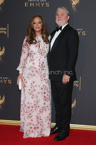 LOS ANGELES, CA - SEPTEMBER 09: Leah Remini and Mike Rinder at the 2017 Creative Arts Emmy Awards at Microsoft Theater on September 9, 2017 in Los Angeles, California. Credit: Faye Sadou/MediaPunch