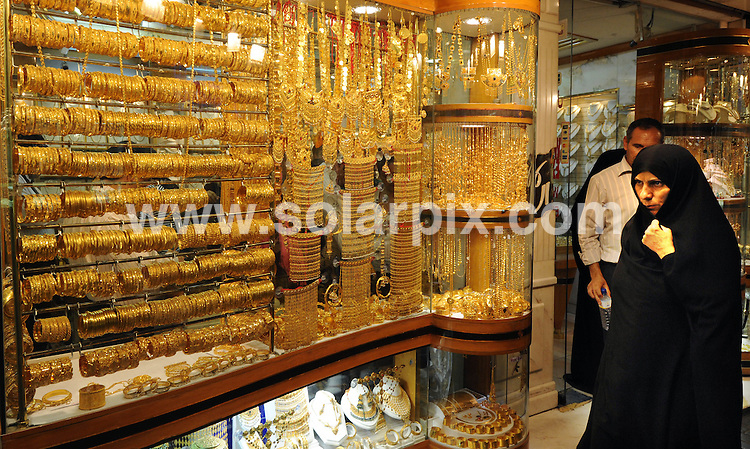**ALL ROUND PICTURES FROM SOLARPIX.COM**.**WORLDWIDE SYNDICATION RIGHTS**.Visitors to the Gold Sulk in Dubai..It has been reported today that Gold jewellery sales in Dubai were down around 30 percent in June 2009 on a year ago, as high prices of the metal and the economic downturn deters tourists from visiting the emirate. Dubai, UAE. 8 July 2009..This pic: Gold Sulk in Dubai..JOB REF: 9453 DBL     DATE: 08_07_2009.**MUST CREDIT SOLARPIX.COM OR DOUBLE FEE WILL BE CHARGED**.**ONLINE USAGE FEE GBP 50.00 PER PICTURE - NOTIFICATION OF USAGE TO PHOTO @ SOLARPIX.COM**.**CALL SOLARPIX : +34 952 811 768 or LOW RATE FROM UK 0844 617 7637**