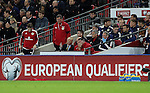 Gordon Strachan manager of Scotland looks on from the bench during the FIFA World Cup Qualifying Group F match at Wembley Stadium, London. Picture date: November 11th, 2016. Pic David Klein/Sportimage
