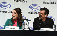 "ANAHEIM, CA - MARCH 31: (L-R) Cast members Amber Nash, and Lucky Yates of FX's ""Archer"" attend WonderCon 2019 at the Anaheim Convention Center on March 31, 2019 in Anaheim, California. (Photo by Frank Micelotta/FX/PictureGroup)"