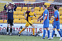 27/12/2008  Copyright Pic: James Stewart.File Name : sct_jspa03_motherwell_v_ICT.CHRIS PORTER CELEBRATES AFTER HE SCORES MOTHERWELL'S FIRST.James Stewart Photo Agency 19 Carronlea Drive, Falkirk. FK2 8DN      Vat Reg No. 607 6932 25.Studio      : +44 (0)1324 611191 .Mobile      : +44 (0)7721 416997.E-mail  :  jim@jspa.co.uk.If you require further information then contact Jim Stewart on any of the numbers above.........