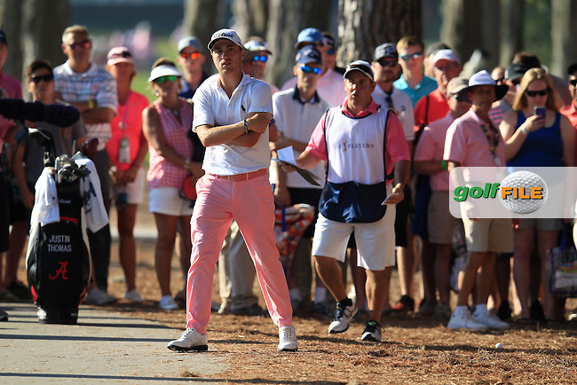Justin Thomas (USA) during the final round of The Players, TPC Sawgrass, Ponte Vedra Beach, Florida, United States. 10/05/2015<br /> Picture Fran Caffrey, www.golffile.ie