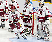 Wiley Sherman (Harvard - 25), Tyler Moy (Harvard - 2), Merrick Madsen (Harvard - 31) - The Harvard University Crimson defeated the Providence College Friars 3-0 in their NCAA East regional semi-final on Friday, March 24, 2017, at Dunkin' Donuts Center in Providence, Rhode Island.