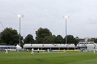 Play commences under the floodlights during Essex CCC vs Somerset CCC, Specsavers County Championship Division 1 Cricket at The Cloudfm County Ground on 30th August 2017
