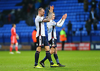 Bolton Wanderers' applauds the fans after the 1-1 draw against Fulham<br /> <br /> Photographer Leila Coker/CameraSport<br /> <br /> The EFL Sky Bet Championship - Bolton Wanderers v Fulham - Saturday 10th February 2018 - Macron Stadium - Bolton<br /> <br /> World Copyright &copy; 2018 CameraSport. All rights reserved. 43 Linden Ave. Countesthorpe. Leicester. England. LE8 5PG - Tel: +44 (0) 116 277 4147 - admin@camerasport.com - www.camerasport.com
