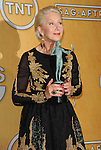 Helen Mirren in the press room at the 20th Annual Screen Actors Guild Awards, held at the Shrine Auditorium Los Angeles, Ca. January 18, 2014.