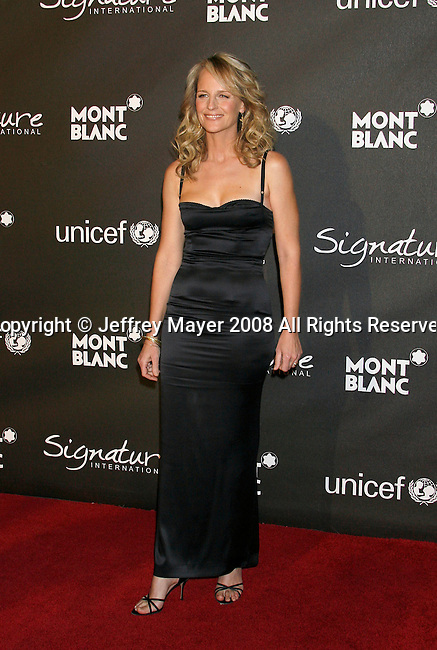 """LOS ANGELES, CA. - February 20: Actress Helen Hunt arrives at Montblanc """"Signature for Good"""" Charity Gala at Paramount Studios on February 20, 2009 in Los Angeles, California."""