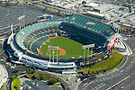 Aerial view of McAfee Field, home of the Oakland Athletics California