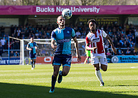 Nick Freeman of Wycombe Wanderers during the Sky Bet League 2 match between Wycombe Wanderers and Cheltenham Town at Adams Park, High Wycombe, England on the 8th April 2017. Photo by Liam McAvoy.