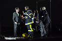 EMBARGOED UNTIL 7:30pm 11.04.15. London, UK. 09.04.2015. English National Opera presents the world premiere of Tansy Davies' BETWEEN WORLDS, at the Barbican. Picture shows: Rodney Earl Clarke (Firefighter 2). Photograph © Jane Hobson.
