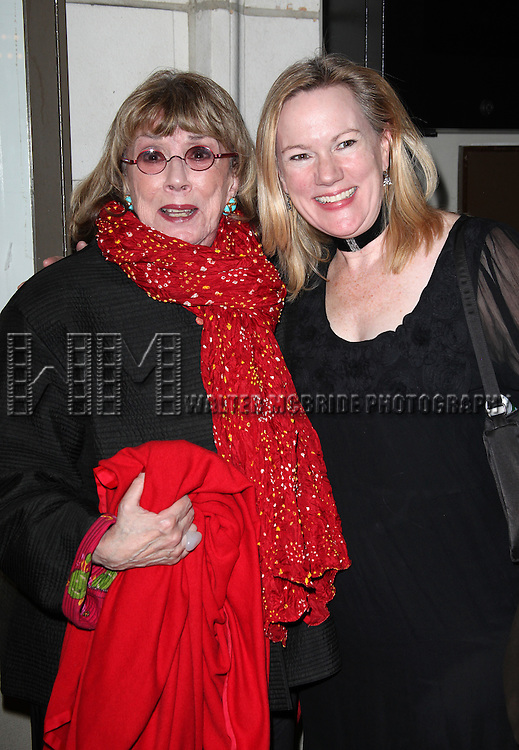Phyllis Newman & Kathleen Marshall.at the Opening Night Performance of the Manhattan Theatre Club's Production of 'Venus In Fur' at the Samuel J. Friedman Theatre in New York City.