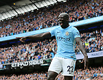 Manchester City's Benjamin Mendy celebrates during the premier league match at the Etihad Stadium, Manchester. Picture date 9th September 2017. Picture credit should read: David Klein/Sportimage