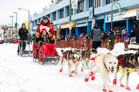 Mitch Seavey during the ceremonial start of the 2018 Iditarod in Anchorage, Alaska on Saturday, March 1 2018.<br /> <br /> Photo by Jeff Schultz/SchultzPhoto.com  (C) 2018  ALL RIGHTS RESERVED