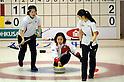 (L-R) Miyuki Sato, Satsuki Fujisawa, Emi Shimizu (JPN),.JANUARY 25, 2012 - Curling :.2012 Karuizawa International Curling Championship Women's 1st Game between South Korea 9-5 Japan at SCAP Karuizawa in Nagano, Japan. (Photo by Hitoshi Mochizuki/AFLO)
