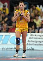 EHF Champions League Handball Damen / Frauen / Women - HC Leipzig HCL : SD Itxako Estella (spain) - Arena Leipzig - Gruppenphase Champions League - im Bild: Karolina Kudlacz . Porträt Portrait. Foto: Norman Rembarz .