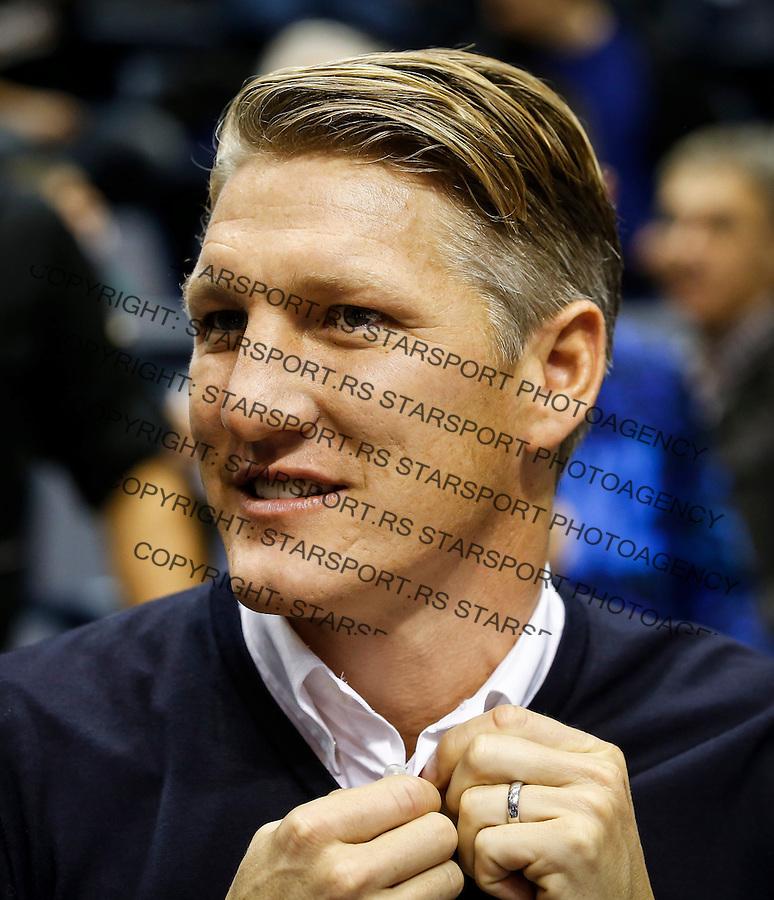 Kosarka ABA League season 2016-2017<br /> Partizan v Olimpija<br /> Bastian Schweinsteiger<br /> Beograd, 16.09.2016<br /> foto: Srdjan Stevanovic/Starsportphoto&copy;
