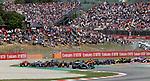 12.05.2019, Circuit de Catalunya, Barcelona, FORMULA 1 EMIRATES GRAN PREMIO DE ESPAÑA 2019<br /> , im Bild<br />Rennstart:<br />Lewis Hamilton (GB#44), Mercedes-AMG Petronas Motorsport, Valtteri Bottas (FIN#77), Mercedes-AMG Petronas Motorsport, Sebastian Vettel (GER#5), Scuderia Ferrari Mission Winnow, Max Verstappen (NEL#33), Aston Martin Red Bull Racing, Charles Leclerc (MCO#16), Scuderia Ferrari Mission Winnow<br /> <br /> Foto © nordphoto / Bratic