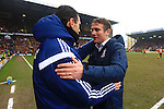 Manager of Sunderland, Gus Poyet and Phil Parkinson, manager of Bradford - Bradford City vs. Sunderland - FA Cup Fifth Round - Valley Parade - Bradford - 15/02/2015 Pic Philip Oldham/Sportimage