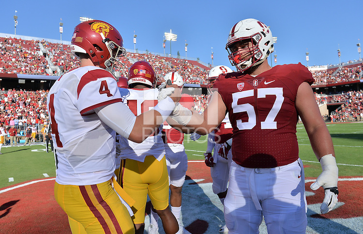 Stanford, CA -- September 17, 2016: Stanford 27-10 over USC at Stanford Stadium.