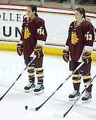 Libby Guzzo (Minnesota-Duluth - 14), Tara Gray (Minnesota-Duluth - 13) - The University of Minnesota-Duluth Bulldogs defeated the Boston College Eagles 3-0 on Friday, November 27, 2009, at Conte Forum in Chestnut Hill, Massachusetts.