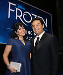 Kristen Anderson-Lopez and Robert Lopez  during the Actors' Equity Opening Night Gypsy Robe Ceremony honoring Jeremy Davis for 'Frozen' at the St. James Theatre on March 22, 2018 in New York City.