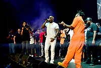CORAL GABLES, FL - AUGUST 10: Jeezy (L) perform on stage with Kodak Black (R) during Kodak Homecoming Concert first show since getting home from jail in June at Watsco Center on August 10, 2017 in Coral Gables, Florida.  Credit: MPI10 / MediaPunch