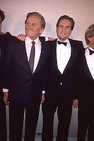 Kirk Douglas & Michael Douglas 1987 by Jonathan Green