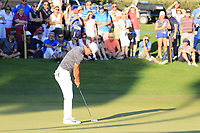 Thorbjorn Olesen (DEN) putts on the 18th green during Thursday's Round 1 of the 2018 Turkish Airlines Open hosted by Regnum Carya Golf &amp; Spa Resort, Antalya, Turkey. 1st November 2018.<br /> Picture: Eoin Clarke | Golffile<br /> <br /> <br /> All photos usage must carry mandatory copyright credit (&copy; Golffile | Eoin Clarke)