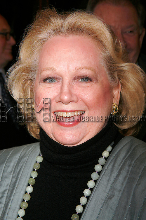Barbara Cook arriving for the Opening Night Performance of INHERIT THE WIND at the Lyceum Theatre in New York City.<br />April 12, 2007