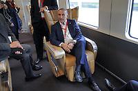 - Treviglio (Brescia), viaggio di prova sulla nuova linea Alta Velocit&agrave;/Alta Capacit&agrave; Treviglio-Brescia, parte integrante del Corridoio Europeo TENT-T; Renato Mazzoncini, Amministratore Delegato del gruppo FS Italiane<br /> <br /> - Treviglio (Brescia), test ride on the new line High Speed / High Capacity Treviglio-Brescia, an integral part of the European Corridor TENT-T; Renato Mazzoncini, CEO of the Italian FS Group