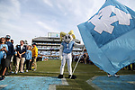 CHAPEL HILL, NC - NOVEMBER 18: UNC's mascot Rameses waits for the players. The University of North Carolina Tar Heels hosted the Western Carolina University Catamounts on November 18, 2017 at Kenan Memorial Stadium in Chapel Hill, NC in a Division I College Football game. UNC won the game 65-10.