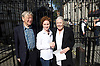 Vanessa Redgrave &amp; Lord Alf Dubs deliver letter to Downing Street on lone child refugees in Calais<br /> 5th August 2016<br />  <br /> also with actress <br /> Aisl&iacute;n McGuckin<br /> <br /> <br /> Calling for an immediate amnesty for the unaccompanied minors in Calais identified by Citizens UK as having family in the UK. <br /> <br /> <br /> Photograph by Elliott Franks <br /> Image licensed to Elliott Franks Photography Services