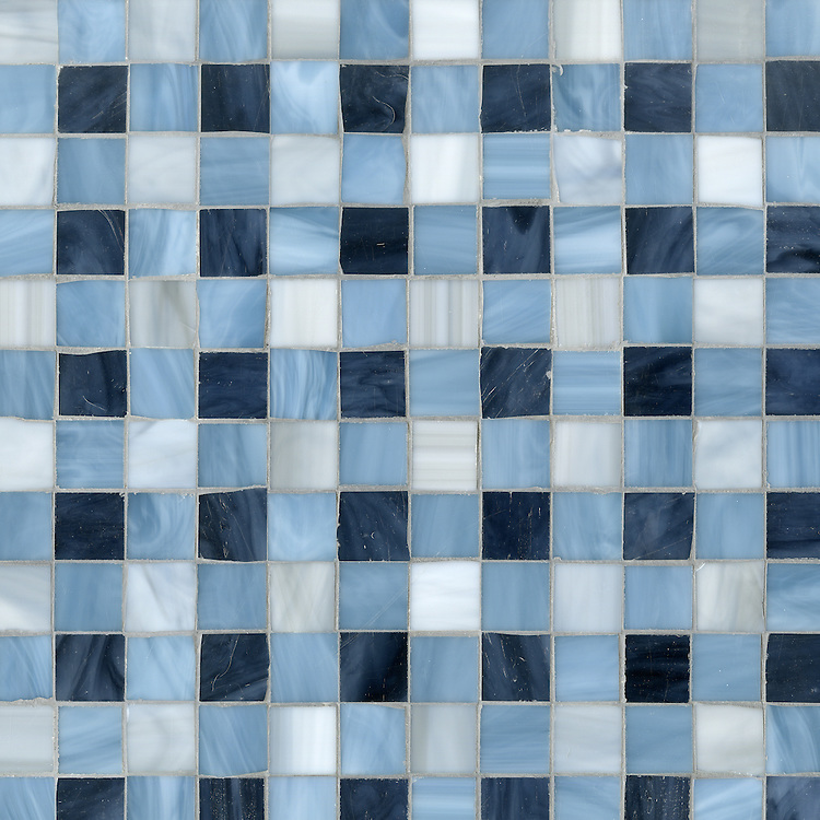 Bonnie, a jewel glass mosaic field shown in Pearl, Zircon and Mica.
