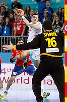 Spain and Croatia during 23rd Men's Handball World Championship preliminary round match, in the pic: Lovro Sprem. January 19 ,2013. (ALTERPHOTOS/Caro Marin) /NortePhoto