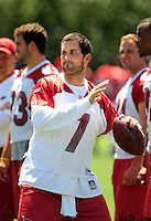 Jun 9, 2008; Tempe, AZ, USA; Arizona Cardinals quarterback (7) Matt Leinart during mini camp at the Cardinals practice facility. Mandatory Credit: Mark J. Rebilas-
