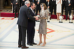 Miguel Carballeda Piñeiro and Queen Letizia attends to the National Sports Awards 2015 at El Pardo Palace in Madrid, Spain. January 23, 2017. (ALTERPHOTOS/BorjaB.Hojas)