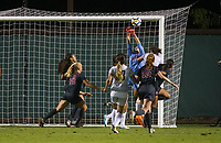 STANFORD, CA - August 24, 2018: Lauren Rood, Civana Kuhlmann, Alana Cook , Beattie Goad at Laird Q. Cagan Stadium. The Stanford Cardinal defeated the USF Dons 5-1.