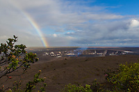 A rainbow at Halema'uma'u Crater, Kilauea Volcano, Hawai'i Volcanoes National Park, Hawai'i Island, June 2015.