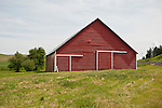 Red corrugated barn in Washington's Palouse.