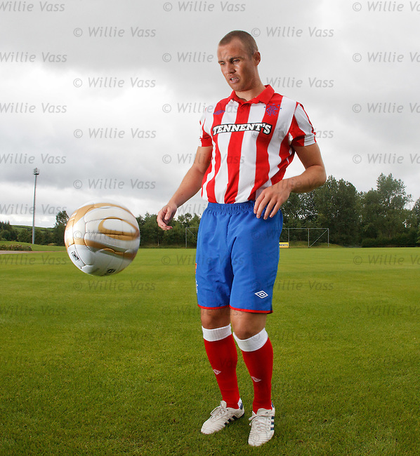 Kenny Miller in the new Rangers away strip