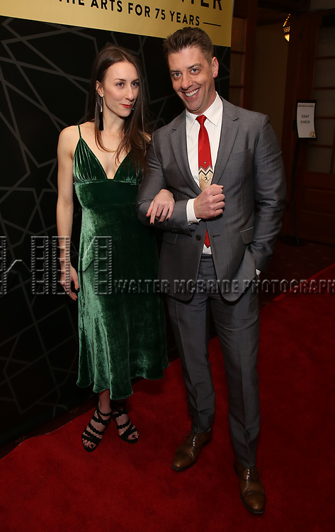 """Christian Borle and guest attends the New York City Center Celebrates 75 Years with a Gala Performance of """"A Chorus Line"""" at the City Center on November 14, 2018 in New York City."""
