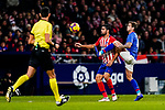 Inigo Martinez of Athletic de Bilbao (R) battles for the ball with Diego Costa of Atletico de Madrid during the La Liga 2018-19 match between Atletico de Madrid and Athletic de Bilbao at Wanda Metropolitano, on November 10 2018 in Madrid, Spain. Photo by Diego Gouto / Power Sport Images