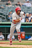 May 1 2010: Alex Castellanos (21) of the Palm Beach Cardinals during a game vs. the Jupiter Hammerheads at Roger Dean Stadium in Jupiter, Florida. Palm Beach, the Florida State League High-A affiliate of the St. Louis Cardnials, won the game against Jupiter, affiliate of the Florida MArlins, by the score of 5-4  Photo By Scott Jontes/Four Seam Images