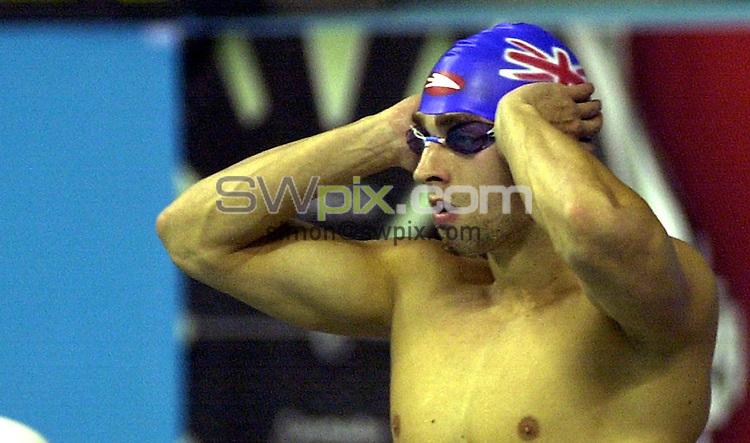 Pix: Matthew Lewis/SWpix.com. Swimming. 10th Fina World Championships 2003, Barcelona. 20/07/2003...COPYRIGHT PICTURE>>SIMON WILKINSON>>01943 436649>>..Great Britain's James Goddard.