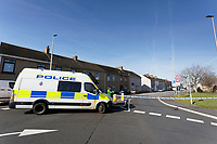 2019 03 26 Police cordon in Llanelli, west Wales, UK