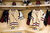 Kevin Hayes (BC - 12), Chris Kreider (BC - 19) - The Boston College Eagles were based in the Tampa Bay Lightning dressing room for the tournament after earning the number 1 seed. The Boston College Eagles defeated the Ferris State University Bulldogs 4-1 (EN) in the 2012 Frozen Four final to win the national championship on Saturday, April 7, 2012, at the Tampa Bay Times Forum in Tampa, Florida.