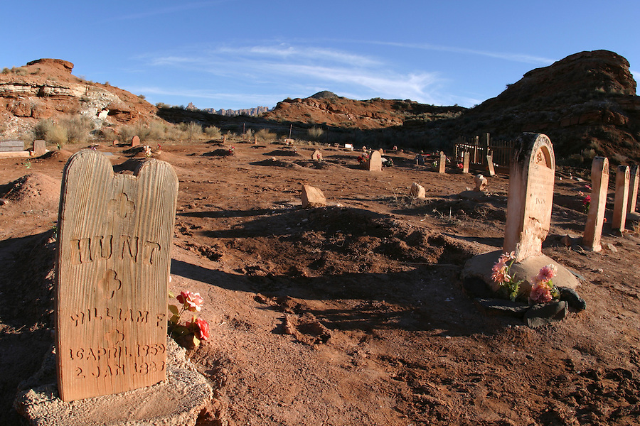 Graves, Grafton Cemetery (ghost town), Rockville, Washington County, UT