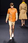 October 22, 2011: Tokyo, Japan - A model walks down the catwalk wearing PHENOMENON during Mercedes-Benz Fashion Week Tokyo 2012 Spring/Summer. The Mercedes-Benz Fashion Week Tokyo runs from October 16-22. (Photo by Christopher Jue/AFLO)