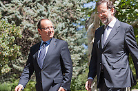 Hollande and Rajoy at Moncloa Palace 2012