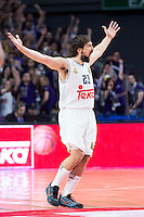 Real Madrid's Sergio Llull during Euroleague match at Barclaycard Center in Madrid. April 07, 2016. (ALTERPHOTOS/Borja B.Hojas) /NortePhoto